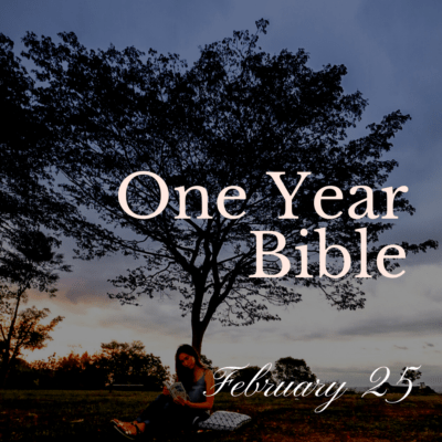 One Year Bible: February 25