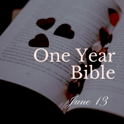 One Year Bible: June 13