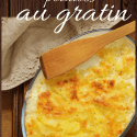 a dish of potatoes au gratin