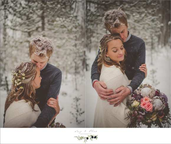 winter styled shoot with snow