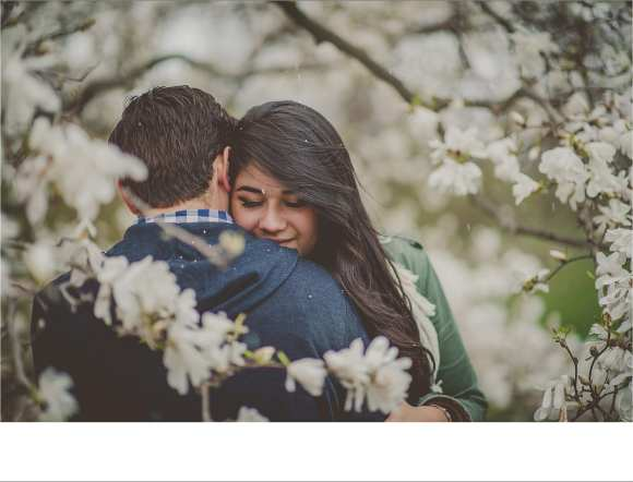 couples, trees, blossoms, blooms, engagement sessions, outdoors