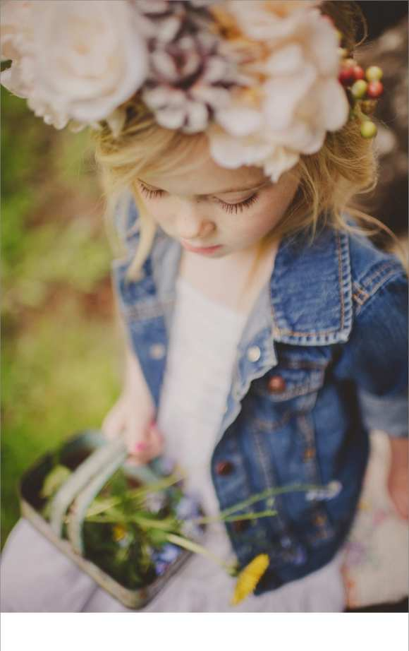 baskets, hair flowers, jean jackets, cute kids, happy families, Vancouver Family sessions