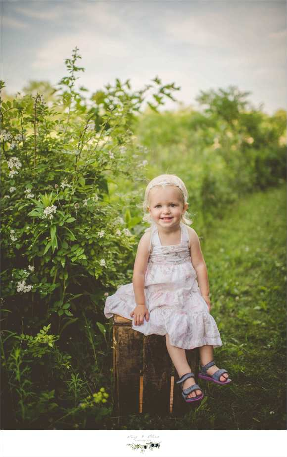 little sister, energetic, full of fun, happy, hair flowers, vintage, rustic, outdoorsy, greenery, white dress, twig and Olive photography
