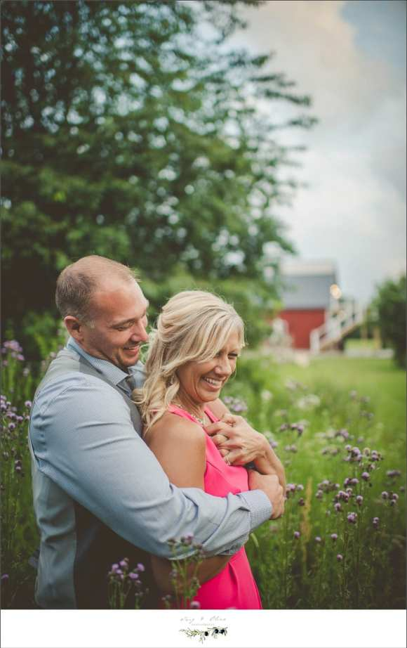 pink dress, blue shirt, sunset photograph, engagement sessions, Rustic Manor