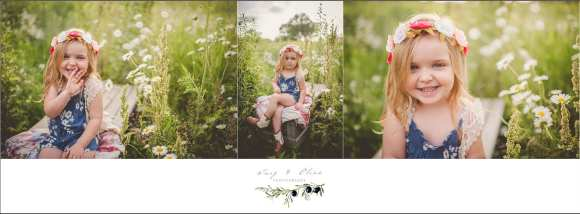white flowers, blue dress, blonde hair, cute kid, happy kid, madison family sessions