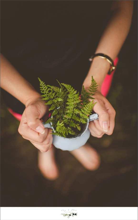 fern, cup, detail shots, bracelet