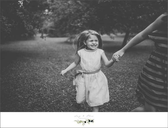 happy kids, smiles, holding hands, black and white