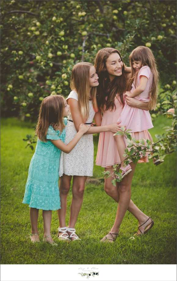 sun prairie family session, four girls, sun dresses, OMG four girls, happy families