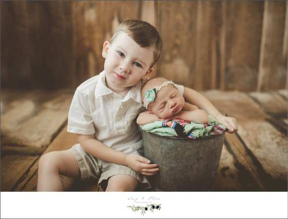 brother and sister, two kids, newborn sessions