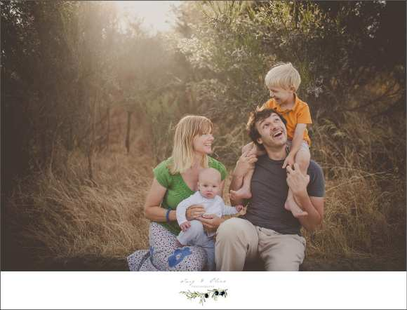 outdoor family session, parents and children