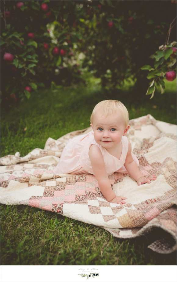 baby, blanket, white dress