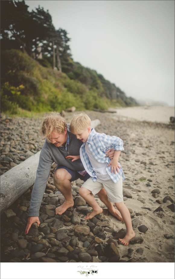 dads, and sons, logs, beaches