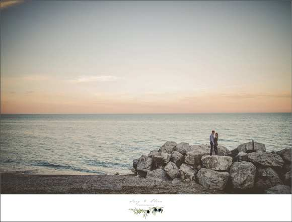 romantic lakeside engagement session