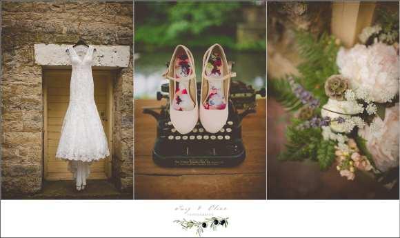 blush pink wedding details