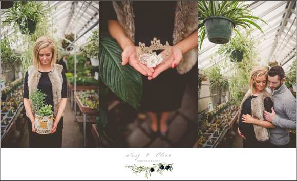succulents maternity session