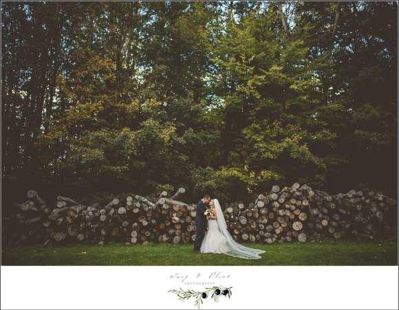 woodpile wedding image