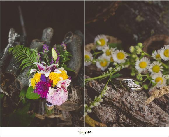 bridal bouquet wildflowers