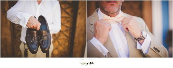 groom bowtie destination wedding