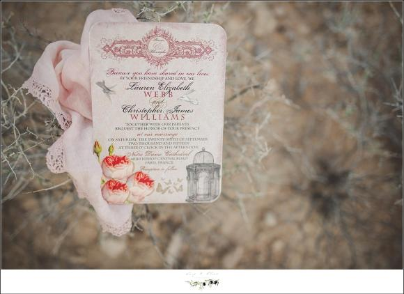 blush pink vintage wedding invitations