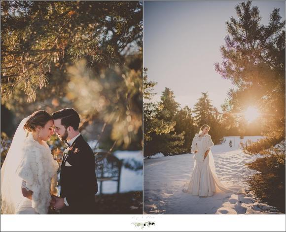 snow wedding pictures