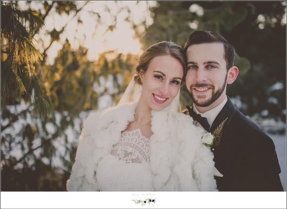 wedding portrait in the winter