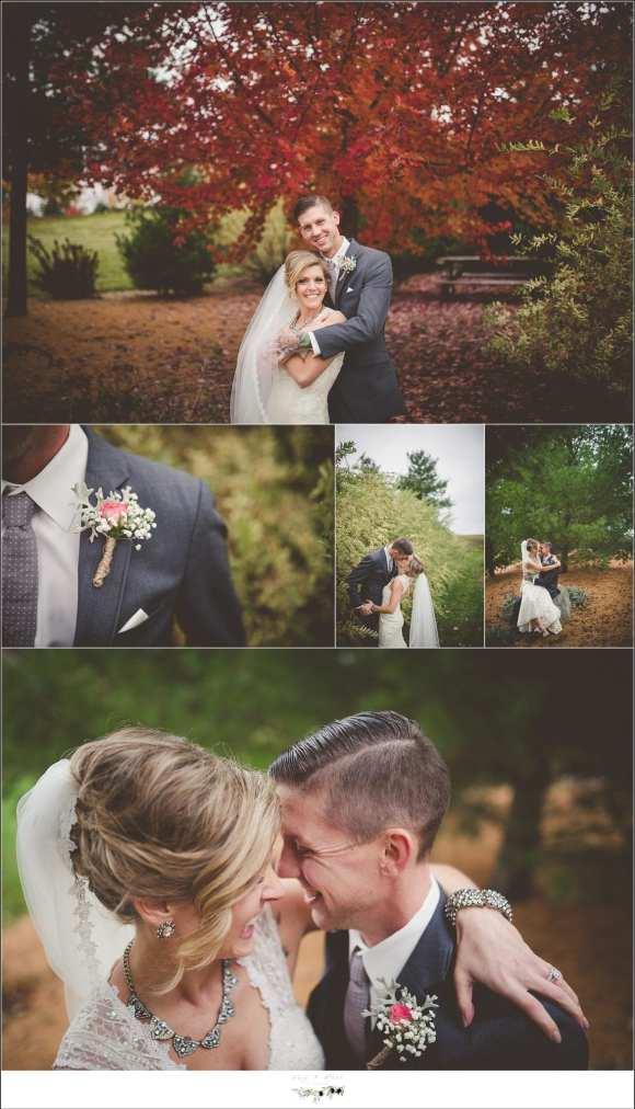 posing bride and groom