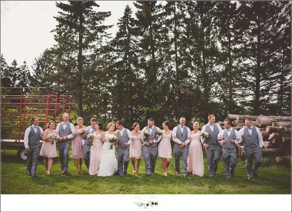 large wedding party shot