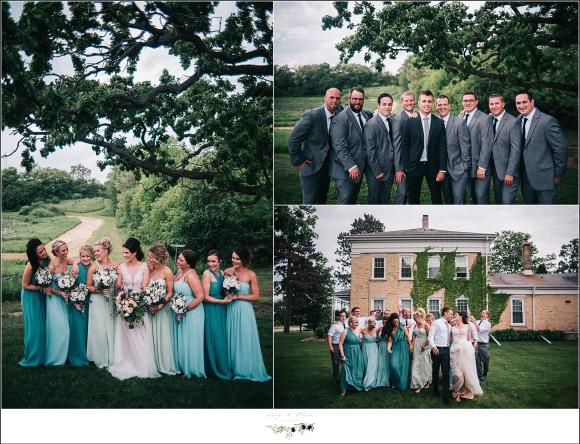 teal blue and gray wedding colors