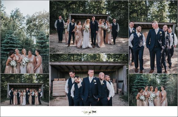 wedding party in wisconsin