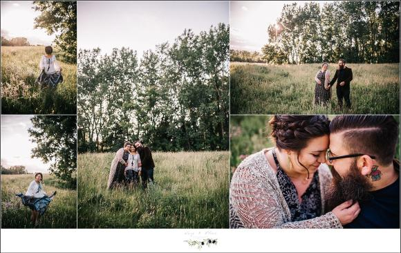 Wisconsin Family Session in a field