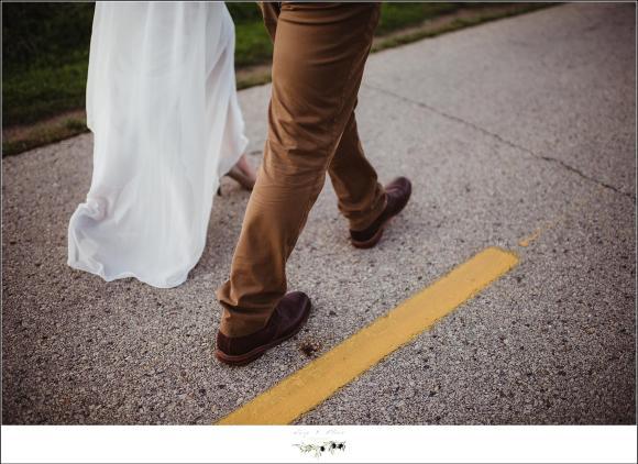 walking towards future