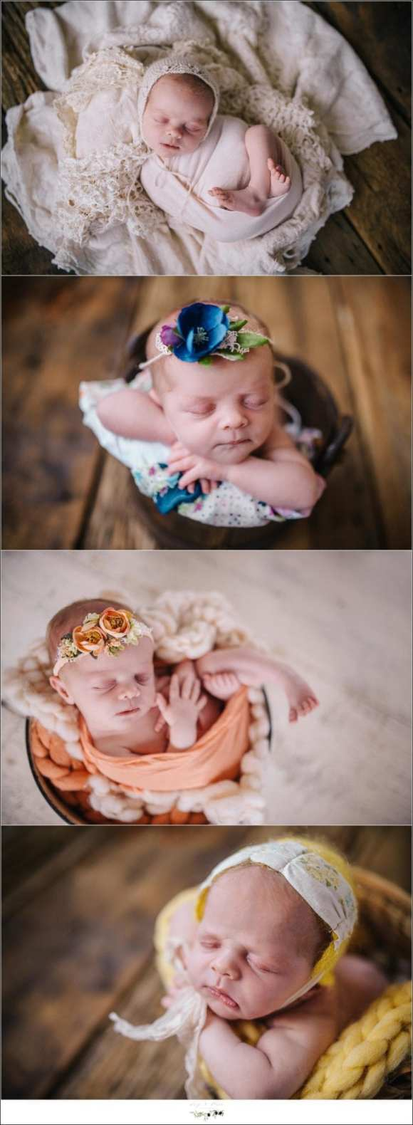 Floral headbands newborn baby girl