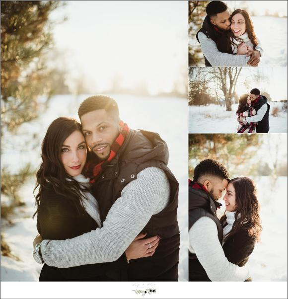 Sunset Outdoor Engagement