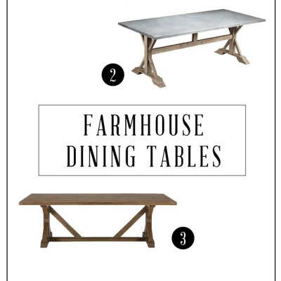 4 Beautiful Farmhouse Style Dining Tables