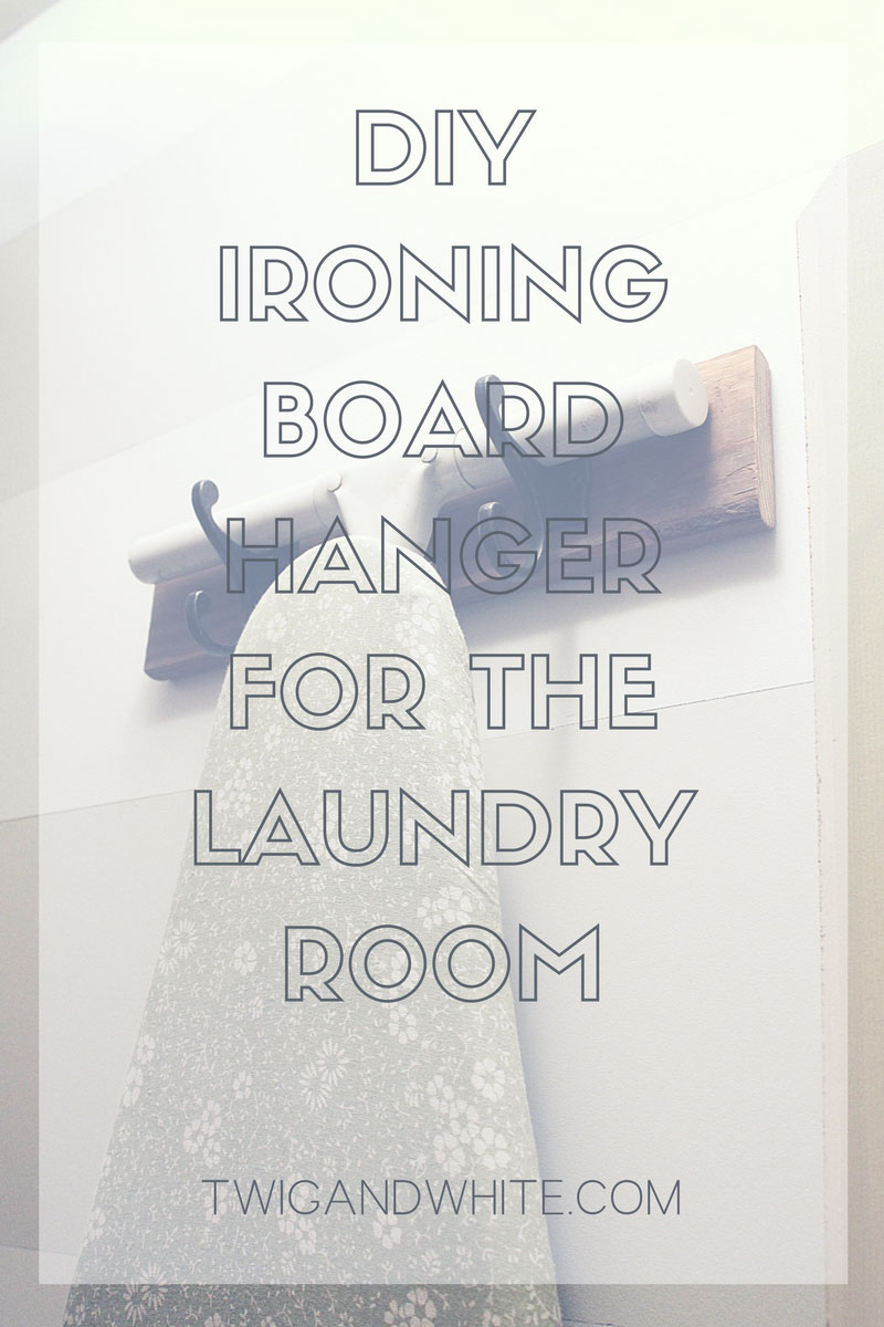 diy ironing board hanger that takes less than 10 minutes