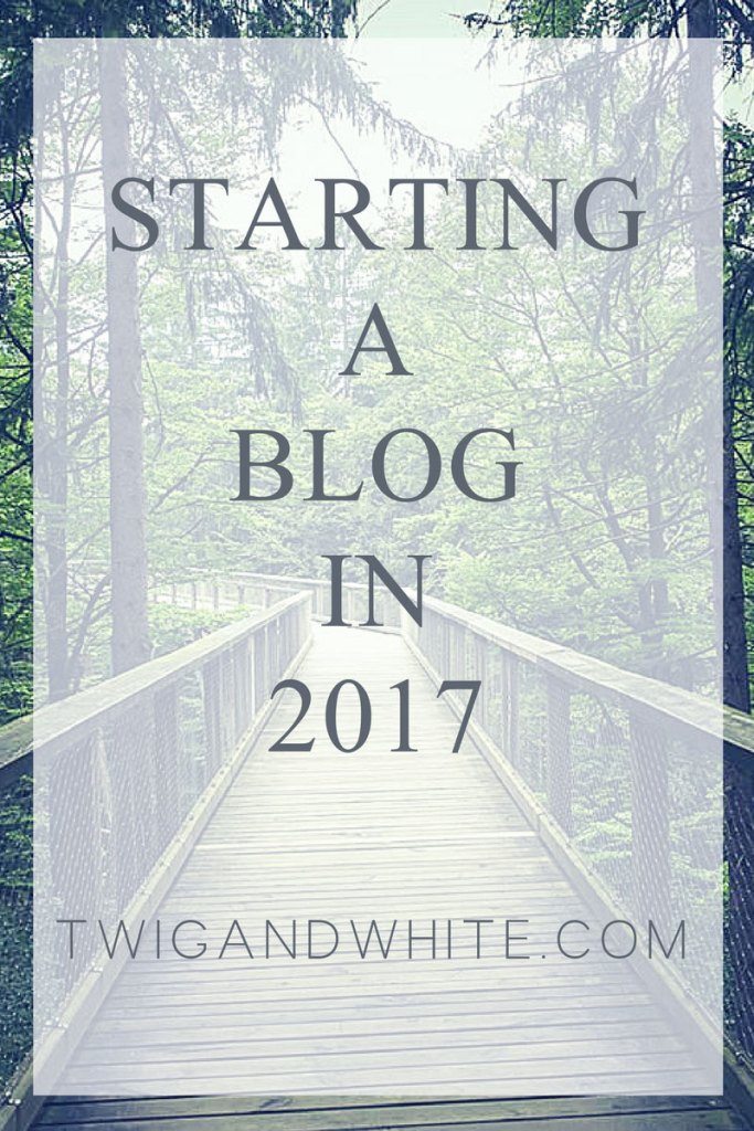 starting a new blog in 2017 called twig and white