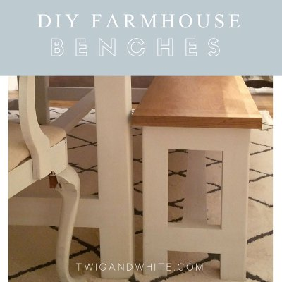 DIY Benches to Match Our Farmhouse Table
