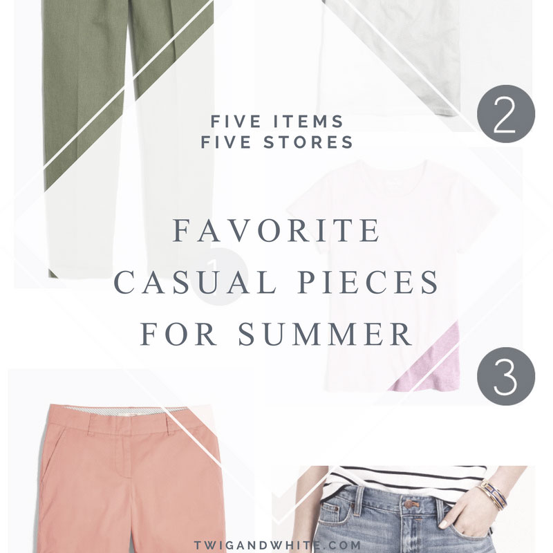 favorite casual summer pieces