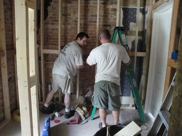 diy bathroom renovation framing