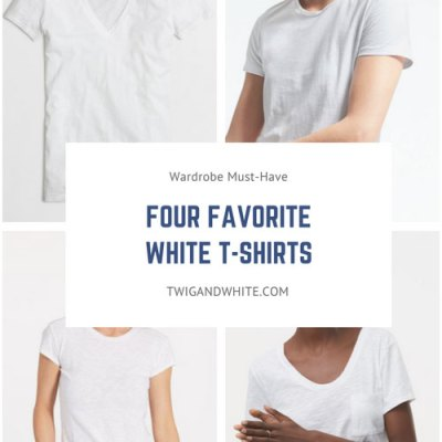 Four Favorite Classic White T-Shirts