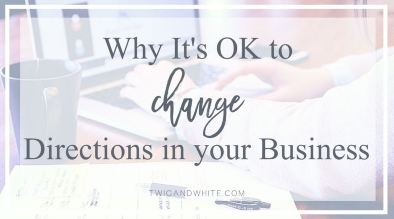 why it's ok to change directions