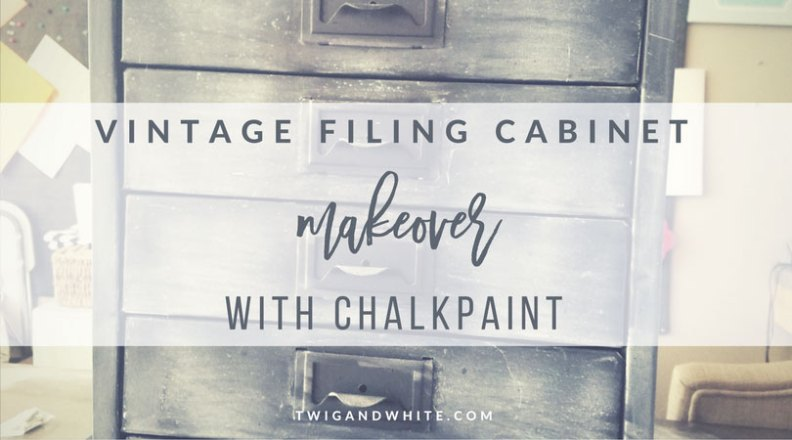 vintage filing cabinet makeover to industrial farmhouse