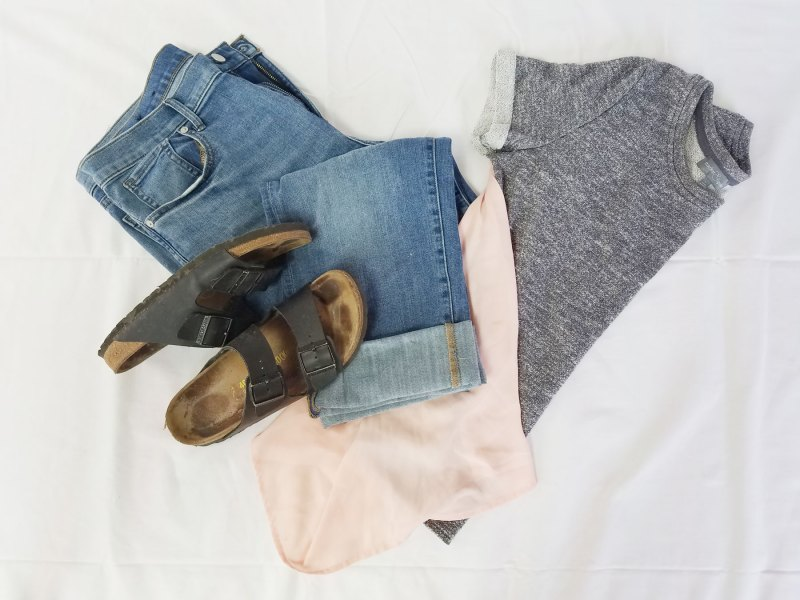 boyfriend jean outfit for summer