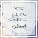 New Filing Cabinet Makeover