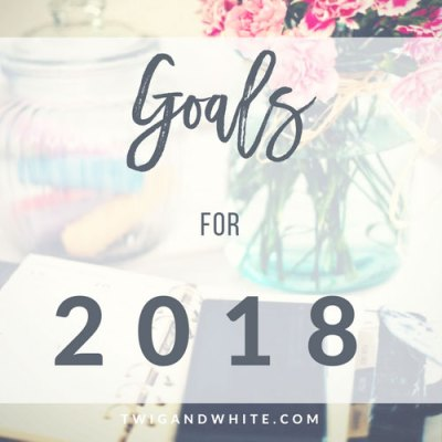 Twig & White Goals for 2018