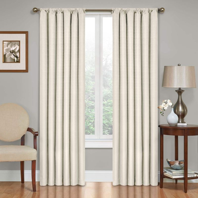 overstock neutral curtains on a budget