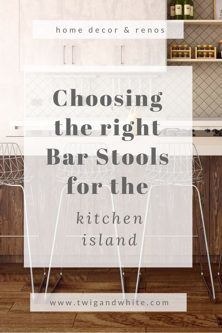 choosing the right bar stools for the kitchen island