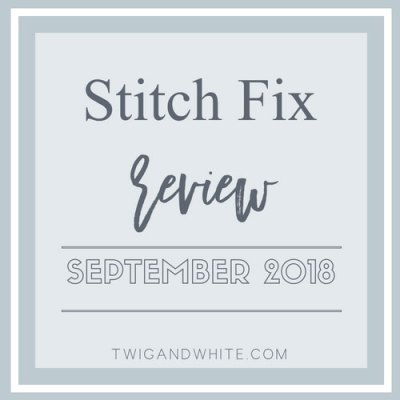 Stitch Fix September 2018