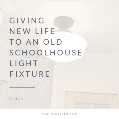 Giving New Life to an Old School House Light Fixture