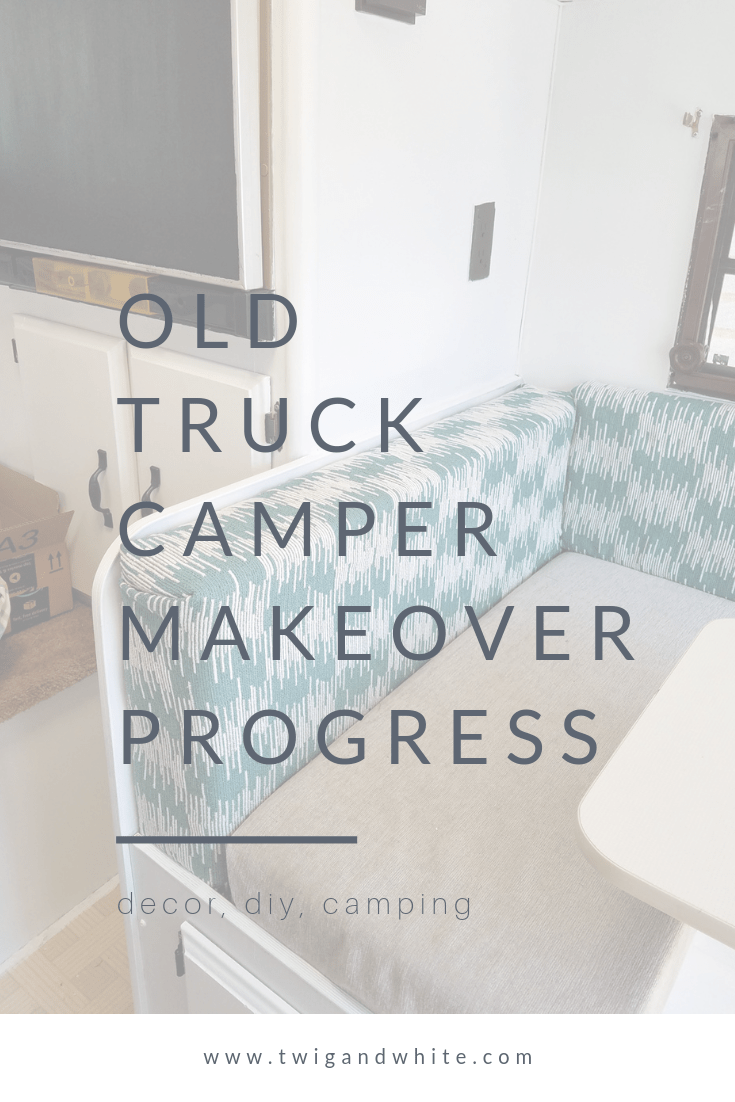 old truck camper makeover progress